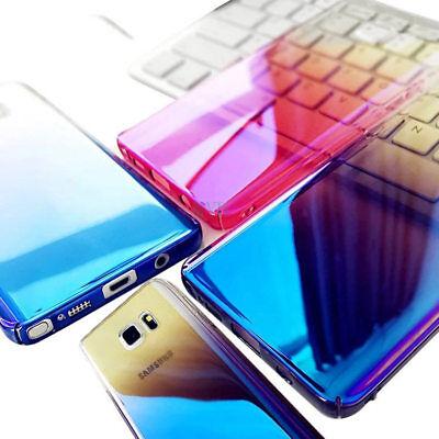 For Samsung Galaxy S8 S9 Plus Note 8 Aurora Gradient Color Transparent Slim Case 4