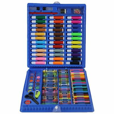 Kids Colouring Set 208PCS Artists Art Case Pencils Painting Childrens Craft 2