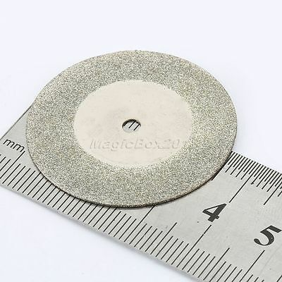 10PC 35mm Mini Diamond Coated Cutting OFF Discs Rotary Tool For Grinder Drill 10