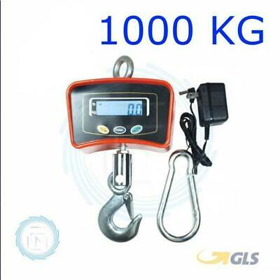 Bilancia Elettronica Industriale 1000 Kg Display Led Con Gancio Da Gru Acciaio 2