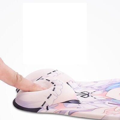 New Anime 12Taisen Juuni Taisen Usagi Soft Silicon 3D Mouse Pad Mat Wrist Rest