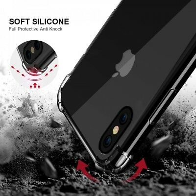 For iPhone XR Case Shock Proof Crystal Clear Soft Silicone Gel Bumper Cover Slim 2