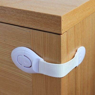 Toddler Baby Kids Child Safety Lock Proof Cabinet Drawer Fridge Cupboard Door 5