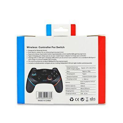 Wireless / Bluetooth Pro CONTROLLER / GAMEPAD + Ladekabel für Nintendo Switch 10