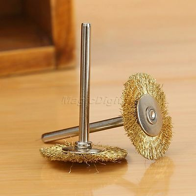 20x3mm Brass Wire Wheel Brush for Rotary Power Tool Drill Rust Weld Die Grinder 5
