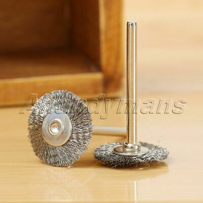 10Pcs Stainless Steel Wire Wheel Brushes Die Grinder Power Rotary Tool Wholesale 9