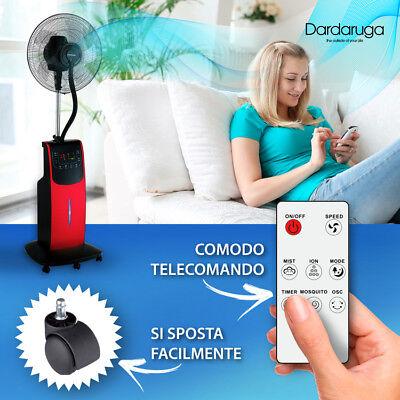 Ventilatore Digitale Acqua Wfd Dardaruga Con Nuovo Nebulizzatore Professionale 6