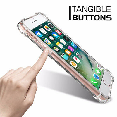 For iPhone 6S 7 8 Plus X XS XR 11- Clear Case Soft TPU Bumper Cover ShockProof 4