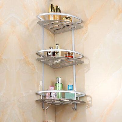 3 Of 12 2 4layer Triangular Shower Shelf Bathroom Corner Bath Rack Storage Basket Hanger