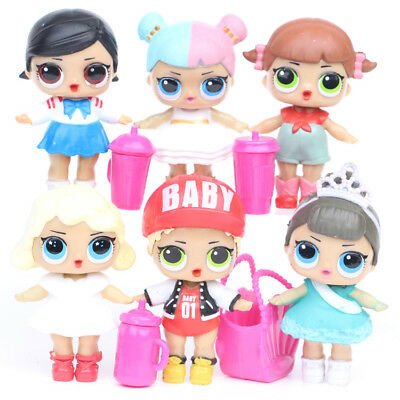 8pcs LOL SURPRISE DOLL Blind Mystery Toy PVC Figure Cake Topper Gift Kid Toy 3