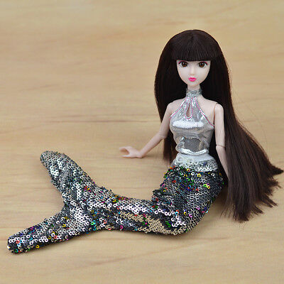 """Toy Dolls Party Dress Gown Skirt Fashion Clothes For 11.5"""" Doll Mermaid Tail 1/6 4"""