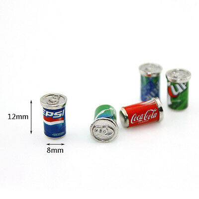 5 Dollhouse Miniature Soda Pop Cans Kitchen Food Drink Beverage Cola Pepsi 1/12 3