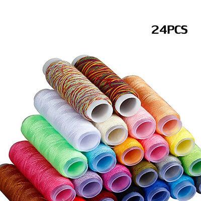 Travel Sewing Kit Thread Threader Needle Tape Storage Bag Scissor Thimble Set US 7