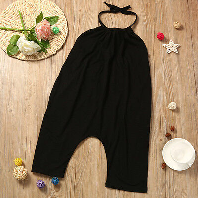 Toddler Kid Baby Girl Strap Romper Jumpsuit Harem Pants Outfit Clothes Summer CW 6