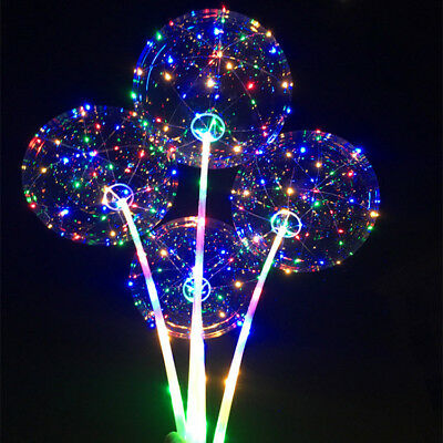 LED Light  Transparent Balloon Wedding Birthday Xmas Party Lights Decoration 3