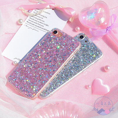 Bling Glitter Full Sparkle Protective Cute Slim Fit Phone Case Cover For iPhone 6