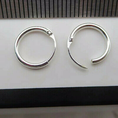 925 Sterling Silver Solid Classic Hoop Ring Earrings Lip Ear Nose Body Piercing 11