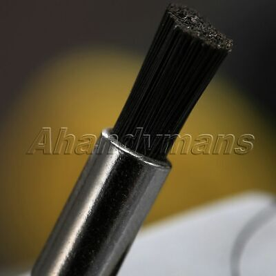 5Pcs Nylon Bristle Burr Pen Brushes Polishing Buffing Shank Grinder Power Tool 8