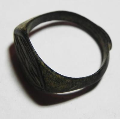 Zurqieh -As2244- Byzantine. Early Islamic Bronze Ring. 600 - 700 A.d 2