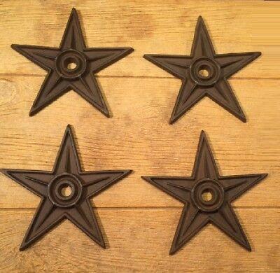 "Center Hole Texas Star Rustic Cast Iron X-Large Decor 9"" (Single) 0170-02105 5"