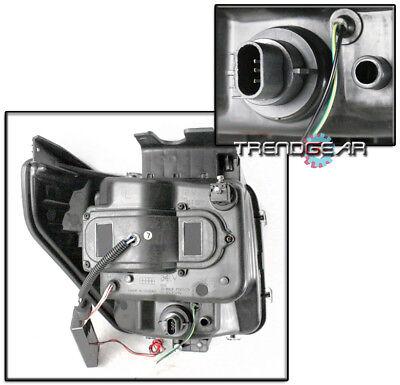 For 2007-2011 Dodge Nitro Ccfl Halo Led Drl Tube Black Projector Headlights Lamp 3