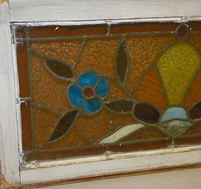 Smaller Antique Stain Glass Window with Jewels 4