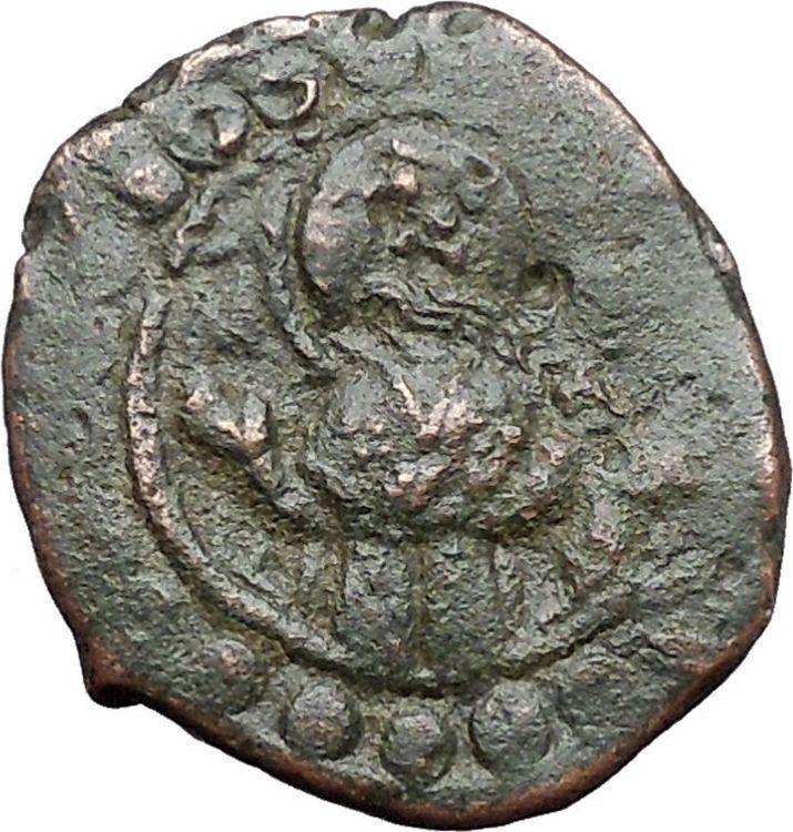 JESUS CHRIST Class K Anonymous Virgin1081AD CRUSADE Byzantine Follis Coin i48092 2