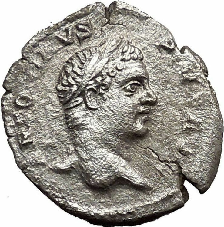 CARACALLA 207AD Ancient Silver Roman Coin Securitas on dictators seat  i33550 2