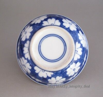 Fine Chinese Blue and white Flowers Porcelain Teacup 5