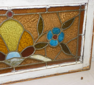 Smaller Antique Stain Glass Window with Jewels 3