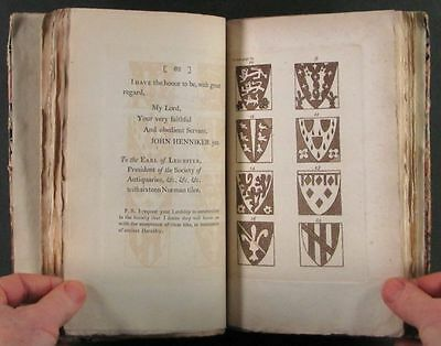 1794 Book : Norman French Armorial Tiles at Abbey in St.-Etienne, France 8