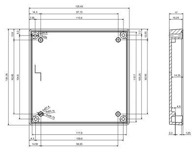 Console Enclosure Instrument Case Plastic Project Box Gaming 190x138x59MM KE20A