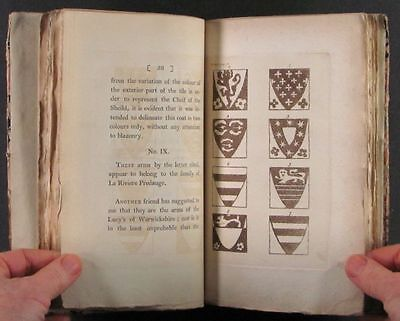 1794 Book : Norman French Armorial Tiles at Abbey in St.-Etienne, France 7