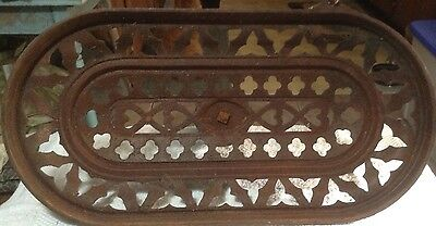 Antique Vintage Early Victorian House Cast Iron Vent/Stove  Floor Cover ? 9