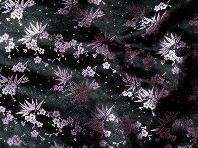 Stoff aus China Dekostoff Kirschblüte rot//schwarz  Mischgewebe  Meterware