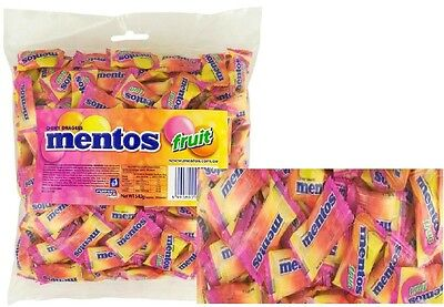 BULK LOLLIES 1 x MENTOS FRUIT CHEWS 200 PIECES PILLOW PACK CANDY BUFFET FAVOR