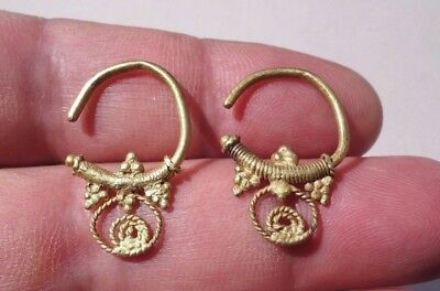 Pair Gold late Roman-early Byzantine 7th-9th Century. Openwork Ear pendants