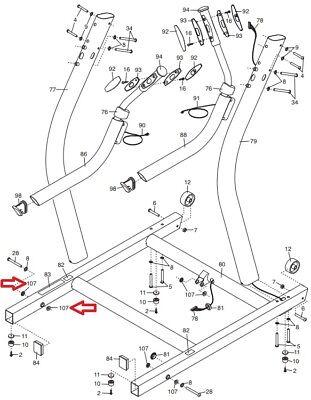 FreeMotion NordicTrack Proform Treadmill Frame Spacer 351825