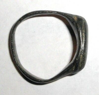 Ancient Roman Empire, 1st - 3rd c. AD. Bronze Ring. Jewelry Artifact 3