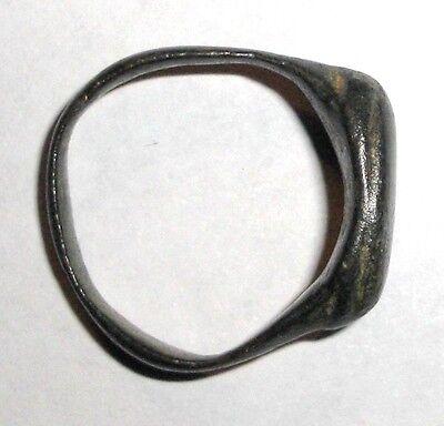 Ancient Roman Empire, 1st - 3rd c. AD. Bronze Ring. Jewelry Artifact