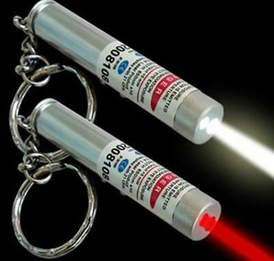 NEW 2017 Model - Mini 2 in 1 Red Laser Pointer & White LED Torch - Cat Toy 2