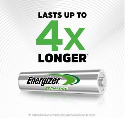 ENERGIZER AAA 700mAh POWER PLUS RECHARGEABLE BATTERIES PRE-CHARGED 4