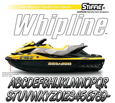 STIFFIE Whipline WL107 Boat PWC Numbers Decal Registration SEA-DOO ELEC YELLOW