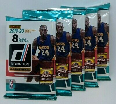 2019-20 PANINI DONRUSS NBA Basketball (1) NEW RETAIL PACK 8 CARDS MORANT? ZION? 5
