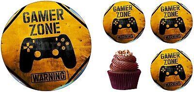 Computer Gamer Gaming Spiel  Eßbar Tortendeko Tortenaufleger Party Deko Muffin