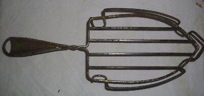 Antigua Reposa-Planchas De Metal Y Madera 32 X 12 Ctms 3