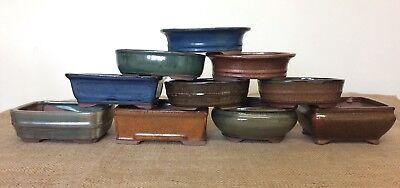 16cm Mixed Bonsai Pots X5 3