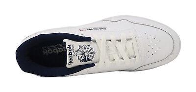 REEBOK Club Memt Memory Tech Classic White Navy Blue Athletic Sneakers Men Shoes 6