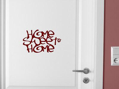 Home Sweet Home Wandtattoo Türaufkleber Aufkleber große Farbauswahl 3 Größen