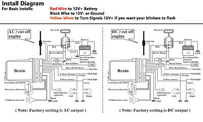 wiring diagram 2-way motorcycle alarm with proximity sensor remote start  super long on avital remote start